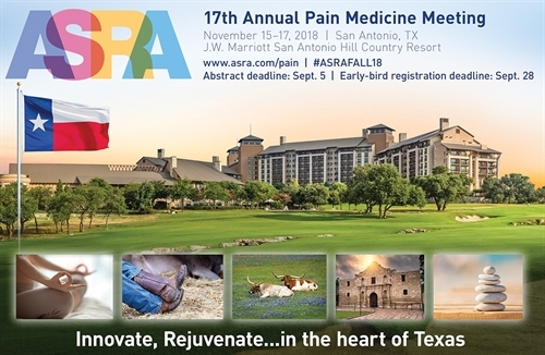 innovative design 72f64 4f63e 17th Annual Pain Medicine Meeting 2018